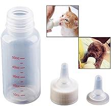 OFKPO 50 ml recién nacido Mascota Pequeño leche Feeder, Adecuado para pequeños cachorros, gatitos