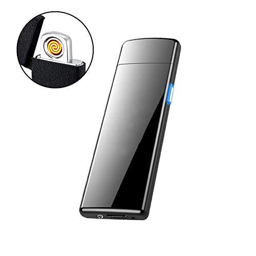 ZSAIMD Último Sensor de huellas dactilares ultrafino Encendedor de cigarrillos Encendedor recargable...