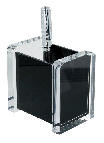 Wedo 604001 Acryl Stifte-Köcher (Acryl Exklusiv) glasklar/schwarz