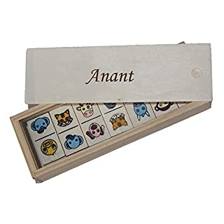 Shopzeus Children's Domino in Wooden Box. Engraved name Anant (first name/surname/nickname)
