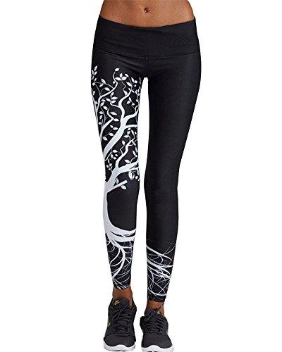 Pantaloni di Compressione Donna Athletic Gym Yoga Leggings S