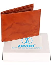 Zoster Brown Genuine Leather Bifold Wallet For Men