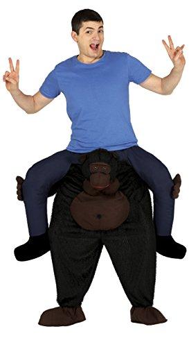 (Guirca–Kostüm Erwachsene Carry Me Gorilla, Größe 52–54(88233.0))