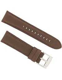 Fossil Uhrband Wechselarmband LB-FS4813 Original Ersatzband FS 4813 Uhrenarmband Leder 22 mm Braun