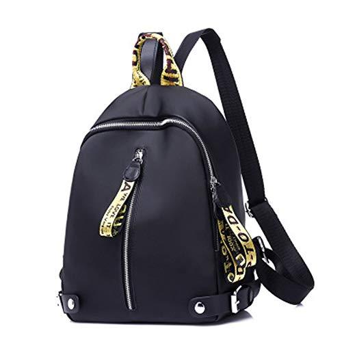 QIAN Kleiner Damenrucksack Oxford-Farbrucksack Wasserdichter Dayback Leichtes Paket Für die Schule, Reisen, Einkaufen,C