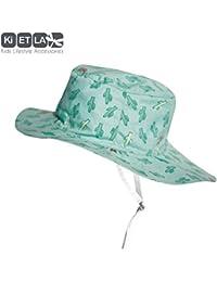 Chapeau Anti-UV upf 50+, modèle Desert Kactus réversible en panama