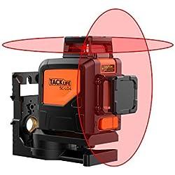 Niveau Laser 2X360°,Tacklife Laser Croix 30 m, 2 Modes d'Impulsion, Mode Intérieur et Extérieur, Horizontal, Verticale Verrouillable, Support Pivotant Magnétique, IP54, SC-L04, Piles inclus