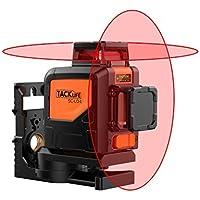 Tacklife SC-L04 Professionnel Niveau Laser Croix 30 m/Laser Rouge Horizontal et Verticale/Grand Angle de 360°/Mode Intérieur et Extérieur/Verrouillable /Support Pivotant Magnétique