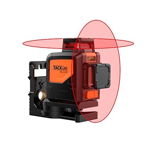 Tacklife SC-L04 Professionnel Niveau Laser Croix 30 m/Laser Rouge Horizontal et Verticale/Grand...
