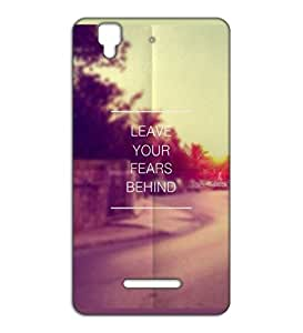 Happoz Leave fear motivational quote Micromax Yu Yureka mobile cover Mobile Phone Back Panel Printed Fancy Pouches Accessories Z557