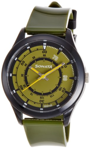 Sonata  Analog Green Dial Men's Watch -  77007PP01J image