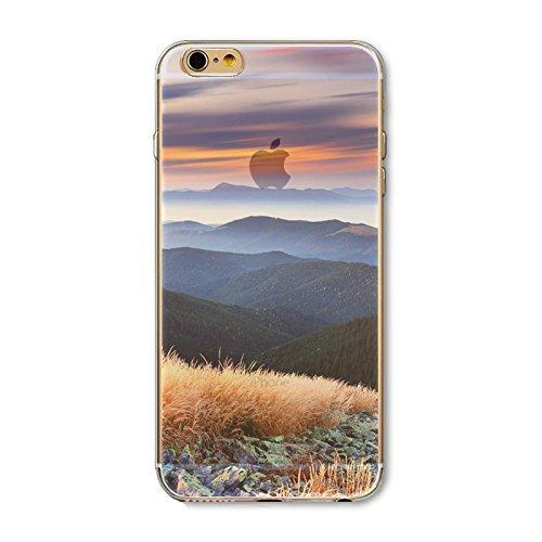 Coque iPhone 7 Plus Housse étui-Case Transparent Liquid Crystal en TPU Silicone Clair,Protection Ultra Mince Premium,Coque Prime pour iPhone 7 Plus-Paysage-style 1 6