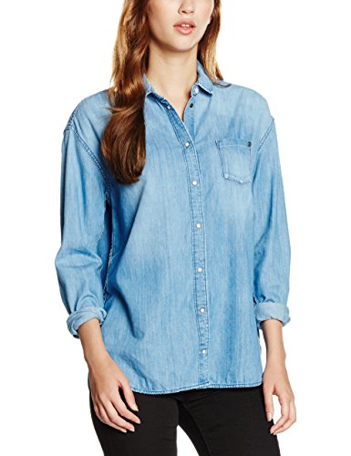 Pepe Jeans Mila, Camicia Donna, Blu (Denim Bleu), 38 (Taglia Produttore: Small)