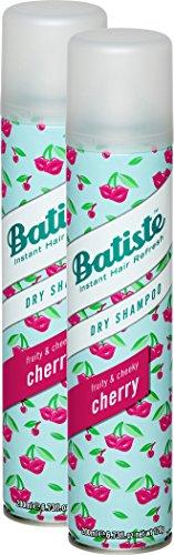 Batiste Trockenshampoo Dry Shampoo Fruity & Cheeky Cherry, Frisches Haar für alle Haartypen, 2er Pack (2 x 200 ml)