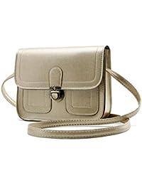 Parabler Mini borsa a tracolla della borsa carina di stile vintage moda donna  Borse a tracolla d5da12d3f8e