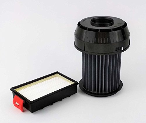 Hepa-Filter-Set passend für Bosch Siemens BGS-6 VSX-6 Motorschutz-Filter 649841/00649841 + Abluftfilter 570324/00570324