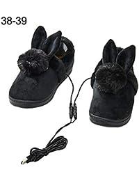 1153d19bb1208 Lucky Family USB Warm Pantoufles chauffantes électriques Baskets  chauffantes Pantoufles chauffantes Garder Les Pieds au Chaud