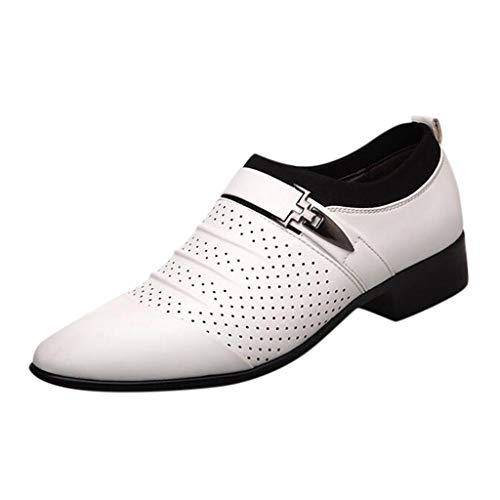 Staresen Herren Schuhe Elegant Männer Schuhe Herren Businessschuhe Gekleidet Spitze Schuhe Lässige Faule Schuhe Atmungsaktive Sandalen Für Hochzeit Party Festlich Berufsschuhe Größe:38-48