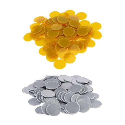 Baoblaze 200x25mm Kunststoff Casino Poker Chips Bingo Marker Token Spaß Spielzeug Geschenk