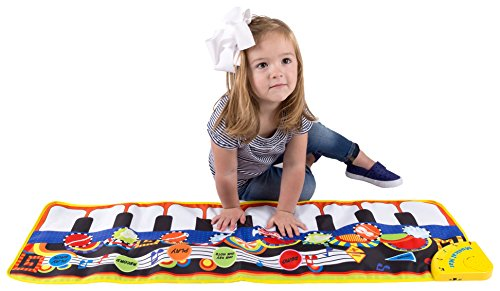 Hey!Play! Step Piano Mat for Kids, Keyboard Mat with Musical Keys, Instrument Sounds, Record, Playback, Demo Modes for Toddlers, Boys and Girls by Hey! Play!