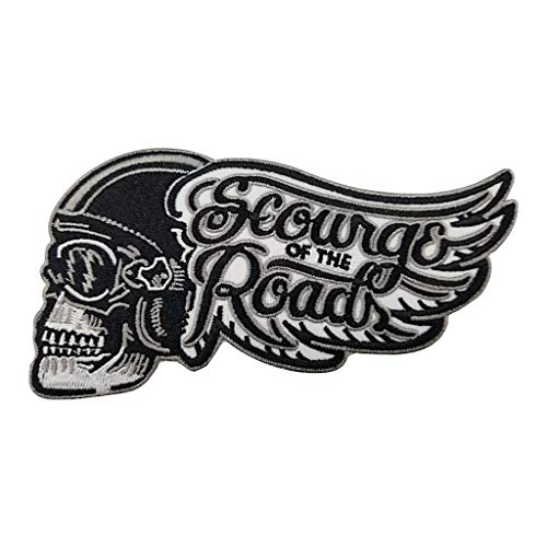 KUSTOM FACTORY Patch Black Skull Rider Ailé