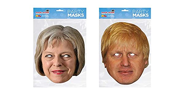d51f81ebe30 Theresa May and Boris Johnson Politicians face masks  Amazon.co.uk  Clothing