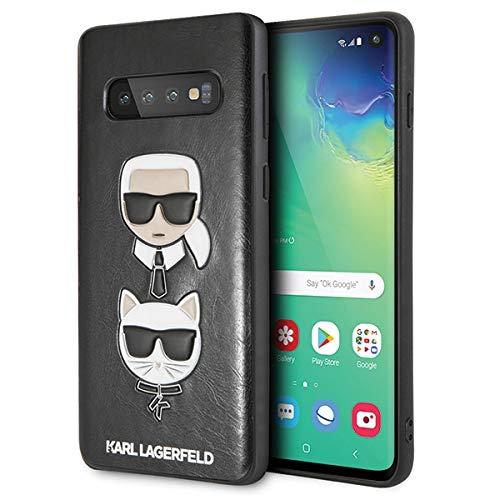 Preisvergleich Produktbild Karl Lagerfeld - Choupette Embossed Hülle- Samsung Galaxy S10e - Schwarz,  Sie erhalten 1 Stück (Neuware)