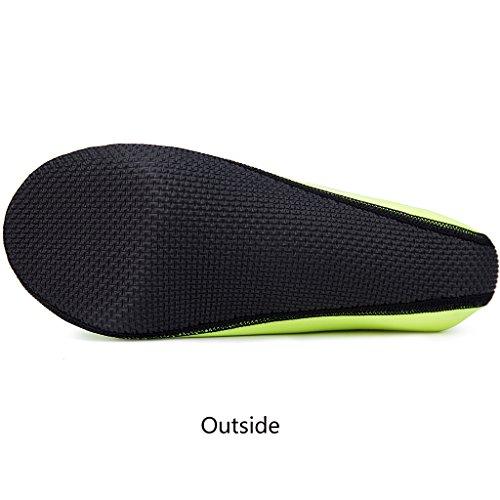 JACKSHIBO Erwachsene Barfuß Schuhe Weich Wassersport Schuhe Damen Schwimmschuhe Surfschuhe Badeschuhe Grün