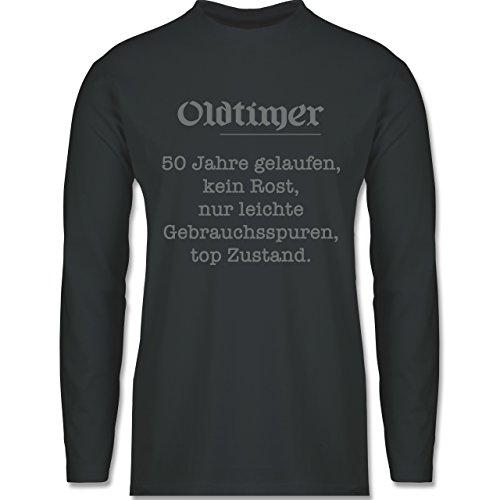 Shirtracer Geburtstag - 50 Jahre Oldtimer Fun Geschenk - Herren Langarmshirt Dunkelgrau