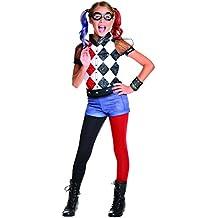 Rubie's - Disfraz para niñas de la superheroína Harley Quinn, producto oficial de DC