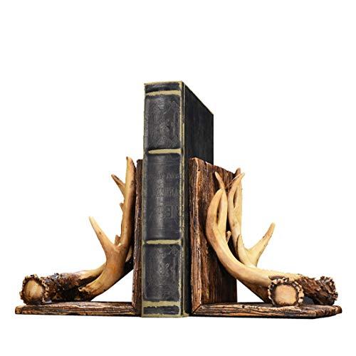 START Glückliches Geweih buchen kreative nordische amerikanische Bürodekoration Arbeitszimmer Dekoration Bücherregal Anzeige Persönlichkeit Bücherregal - Anzeige Buchen
