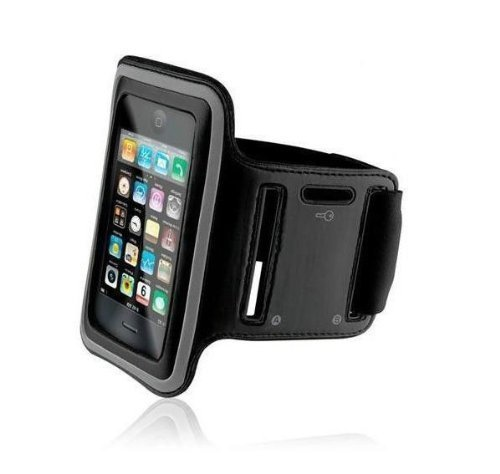 KHOMO Sports Armband Black Cover Case with Screen Protector Schutz Cover Case fur das neue Apple iPhone 6 PLUS + (5.5