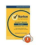 Norton Security Deluxe 5 Geräte  Der Rundumschutz als Download   Für mehr Sicherheit: Malware, Viren & Cyber-Kriminelle stellen zahlreiche Risiken für Internet-Nutzer, ihre Identität & ihre persönlichen Daten dar. Umso wichtiger ist es, si...