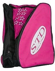 Sac à dos pour roller sTD Skates de nylon avec poches latérales pour les patins et espace central pour la coiffure et protection.
