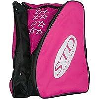STD SKATES Mochila para patines Nylon con bolsillos laterales para los patines y espacio central para la ropa y protecciones. (rosa)