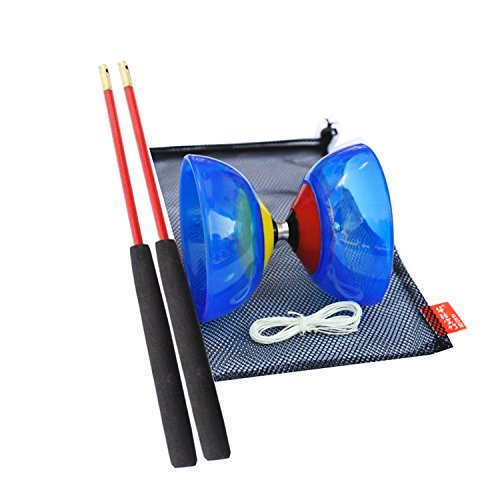 JOYOOO Professional Yoyo LED Diabolo Set With Coloured Diabolo sticks And String Game Special Props For Kids Toys(Random Color)(S)