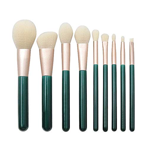 Set di pennelli trucco Setole professionali super morbide di lusso per Kabuki Face Powder Foundation Blush Eyeshadow Blending Make Up Brushes Kit (9 pezzi)