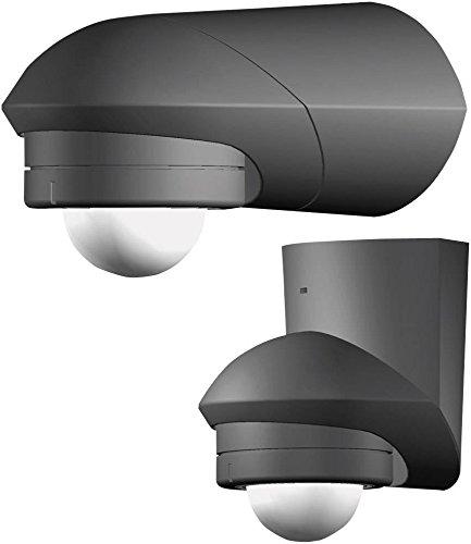 Grothe 5167044 Bewegungsmelder Grad 230 V, Aufputz, IP55, Mc Guard Pro BM 360 Sw, Schwarz