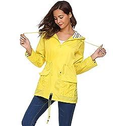 Meaneor chaqueta blusa para Mujeres XXL Amarillo