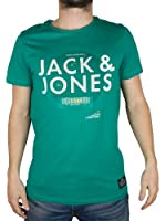 Jack and Jones Men's Detail Plain Crew Neck Short Sleeve T-Shirt
