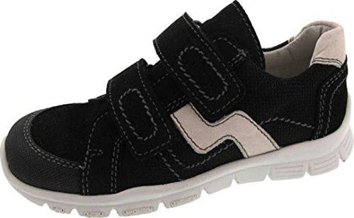 Däumling Sneaker, Jungen Schuhe, Halbschuhe, Lederschuhe, Klettschuhe schwarz (Turino schwarz)