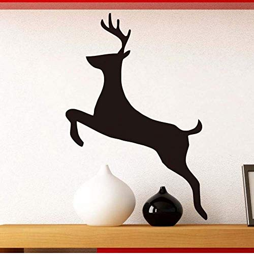 Txyang Running Deer Silhouette Vinyl Wall Sticker For Kids Rooms Bedroom Wall Decor Removable Wall Art Decals Posters Home Decor 85 * 58.Cm