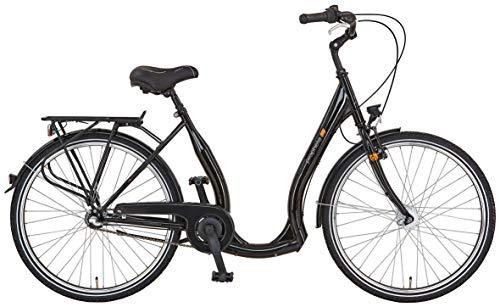 """Prophete Unisex- Erwachsene GENIESSER 9.4 City Bike 26\"""" Cityfahrrad, glanzschwarz, RH 46 cm"""
