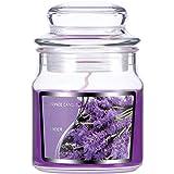 Kleine Glas Kerze Duftkerzen für Teatime Party Hochzeit Spa Haus Dekoration Geschenke (Lila Lavendel)