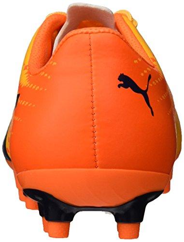 Puma Evospeed 17.5 Fg Jr, Scarpe da Calcio Unisex – Bambini Giallo (Ultra Yellow-peacoat-orange Clown Fish 03)