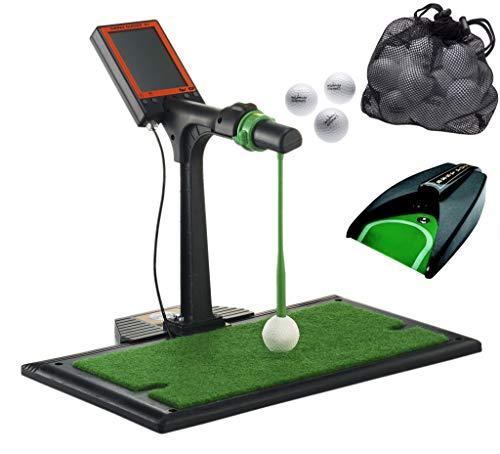 Cutimax Tolles Golfgeschenk Indoor-Golftrainer/Schwungtrainer: Digital Swing Guider S1 + Puttingmaschine + 25 Golfbälle