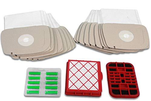 Premium Sparset passend für LUX-1, Lux-820: 20 Staubsaugerbeutel, 1 Aktivfiltersystem, 1 Aktivkohlefilter, 10 Staubsauger-Deo