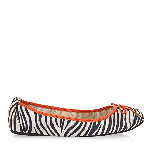 Cocorose London Scarpe Pieghevoli - Balham Scarpe da Ballet Donna Zebra & Orange