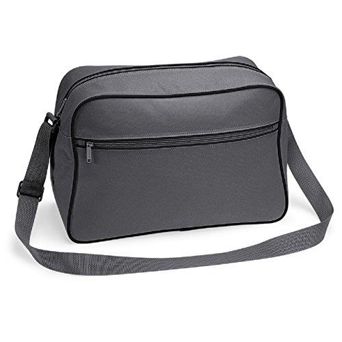 Bagbase - Borsa a tracolla rétro in 11 colori Graphite/black