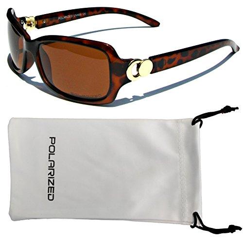 Schöne Schattierungen (VOX Frauen polarisierte Sonnenbrillen Klassisch schicke Designermode Brillen kostenlos aus Mikrofaser Beutel – Schildkröte-Frame-Amber-Objektiv)